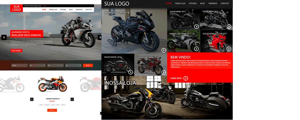 Sistema e Site para revenda de motos